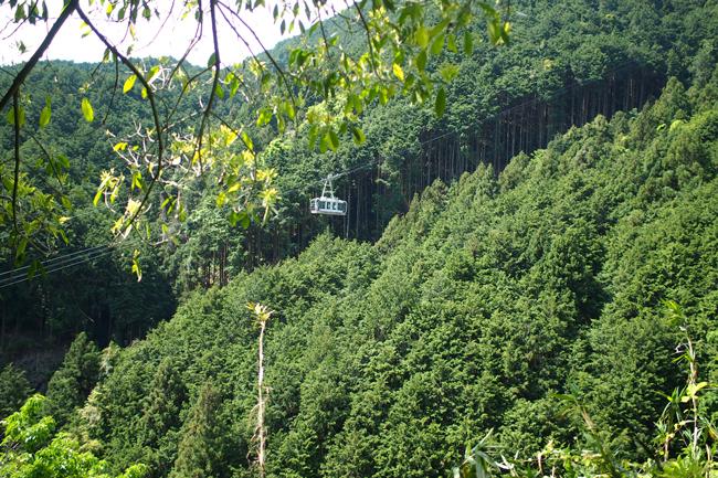 大和葛城山のロープウェイ