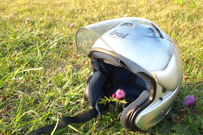 ARAIのジェットヘルメット