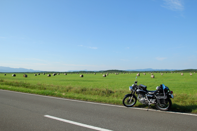 ST250 in 北海道 エサヌカ線