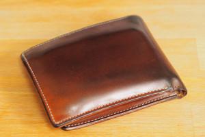 エイジングレポート CYPRIS ナチュラルコードバン 二つ折り財布