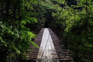 瀞峡に掛かる吊橋