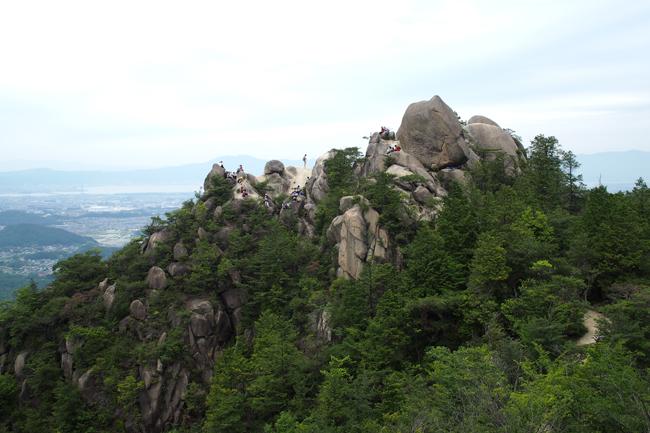 滋賀県 金勝アルプス(竜王山・鶏冠山)に登ってきた