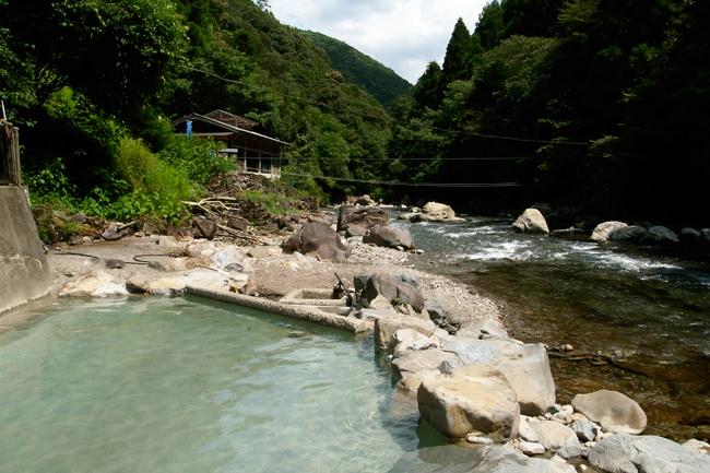 今はなき上湯温泉 神湯荘の露天風呂