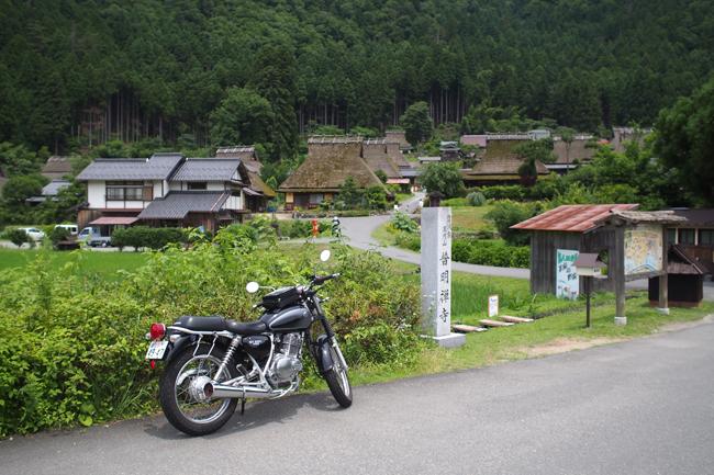 ST250 in 京都美山 かやぶきの里