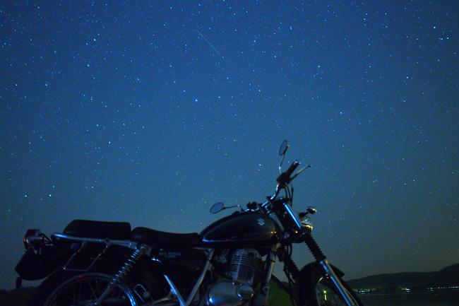 ST250と星空 in 北海道 呼人浦キャンプ場