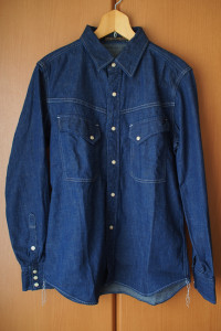 "色落ちレポート FULL COUNT 4931 DENIM WESTERN SHIRTS ""San Antonio"" 購入"