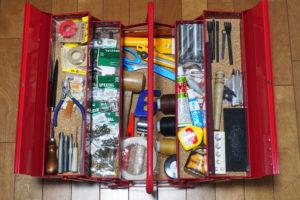 レザークラフトのツールボックス(道具箱)を新調する