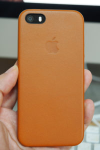 iPhone SEとiPhone SE用レザーケース   サドルブラウン購入