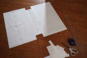 レザービジネストートバッグ製作記 その4 〜失敗からの型紙自作へ〜