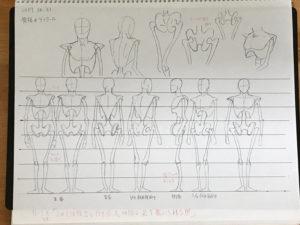 イラスト修行記録 vol.03 〜人体模型の骨格〜