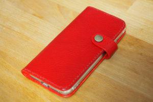 レザークラフトでiPhone 8用の手帳型レザースマホケースを作った