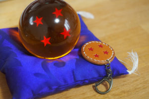 レザークラフトでドラゴンボールの四星球のレザーキーホルダーを作った