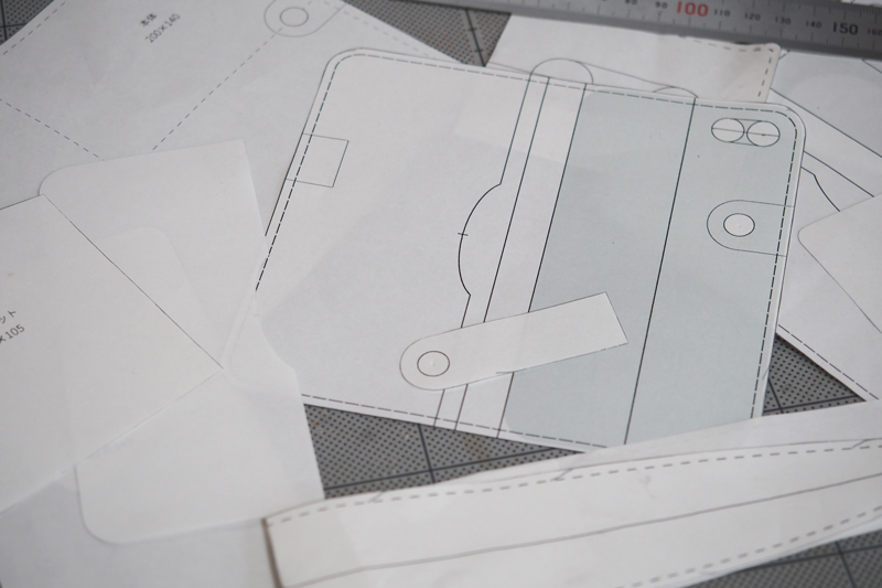 レザークラフトの型紙