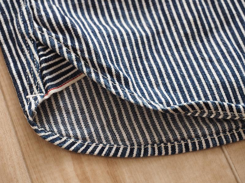 UES ヒッコリーワークシャツのエイジング