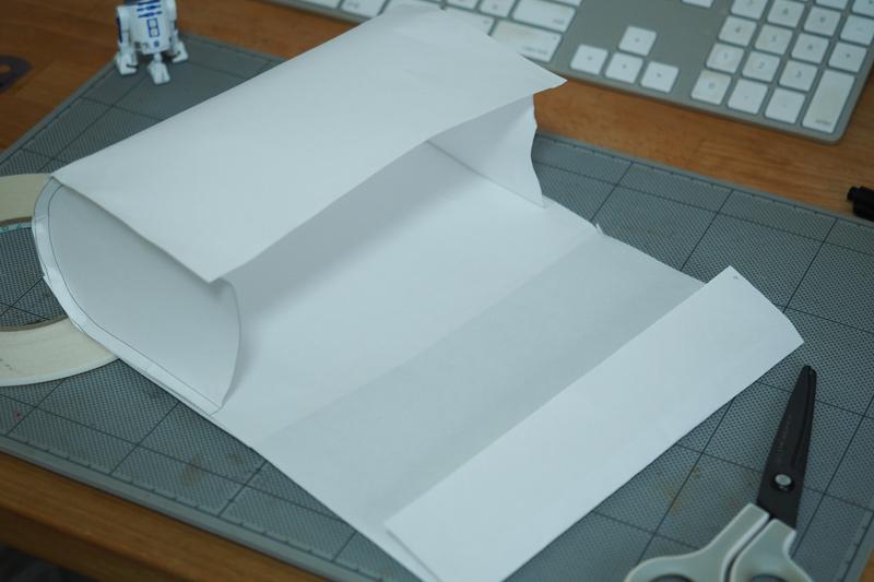 サドルバッグの型紙製作