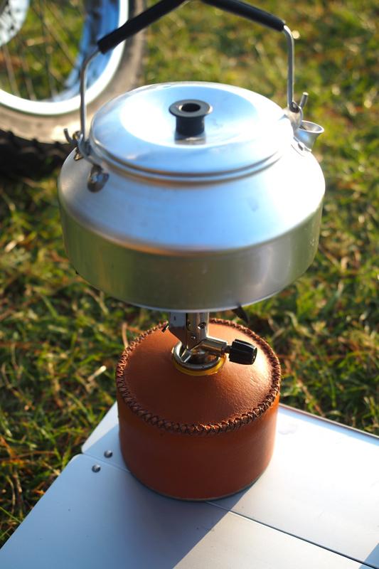 ガス缶(OB缶)用レザーカバー