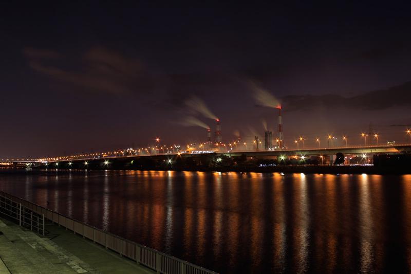 浜寺公園からの工場夜景
