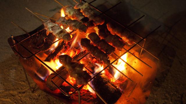 ピコグリル398で焼き鳥を焼く