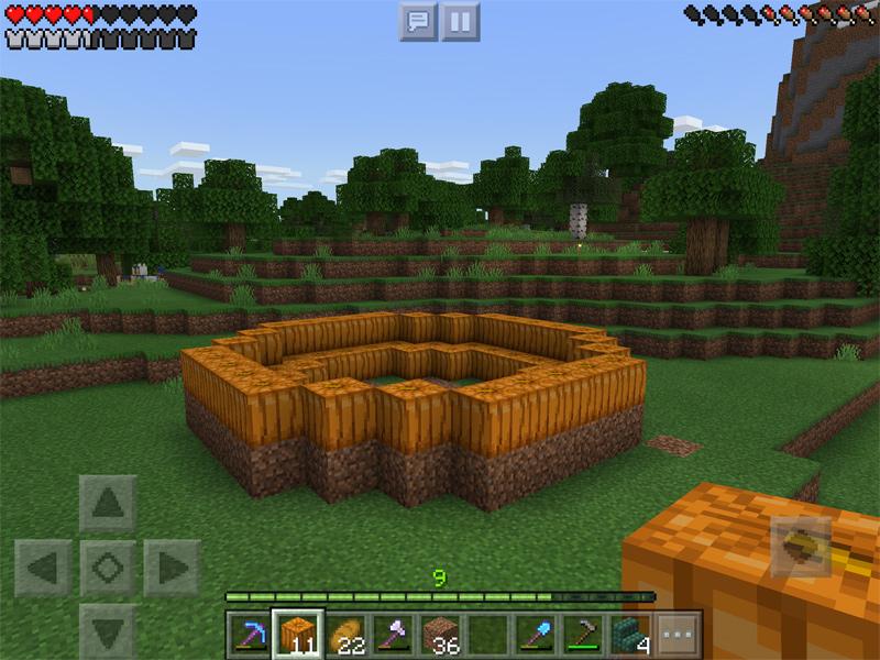マインクラフトで自爆セルのカボチャ畑を作る