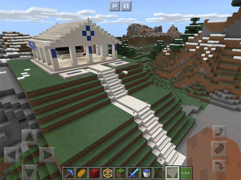 マインクラフトでOLYMPUS OM-D E-M5を祀る神殿を建築