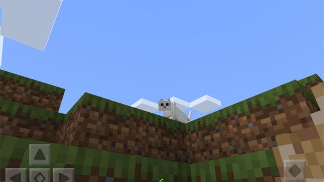 マインクラフトで白猫を探して