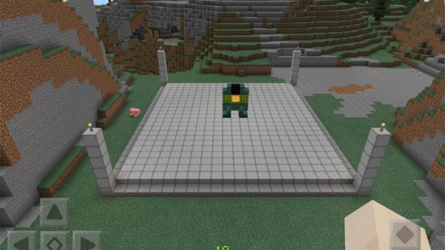マインクラフトでセルゲームのリングを建築