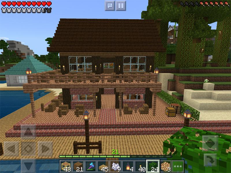 マインクラフトでオシャレなカフェを建築