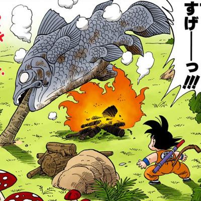 ヤジロベーの巨大焼き魚