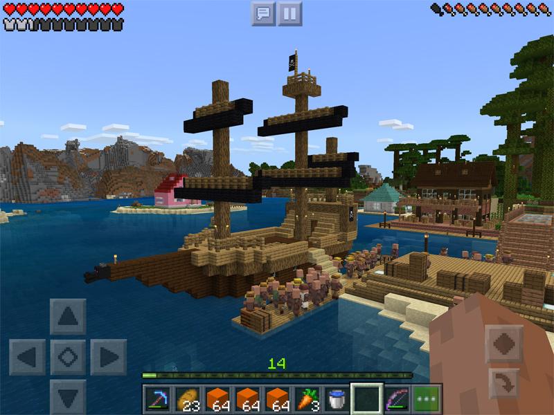 マインクラフトで帆船(海賊船)を建築