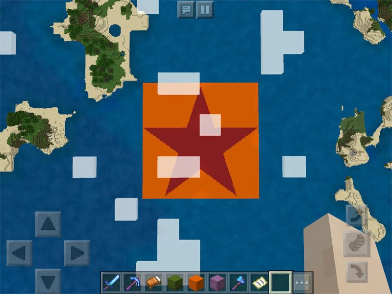 マインクラフトで地図を使ってドット絵を描く