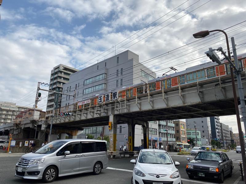 大阪環状線 玉造駅を通過