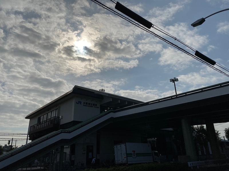 大阪環状線 大阪城公園駅を通過