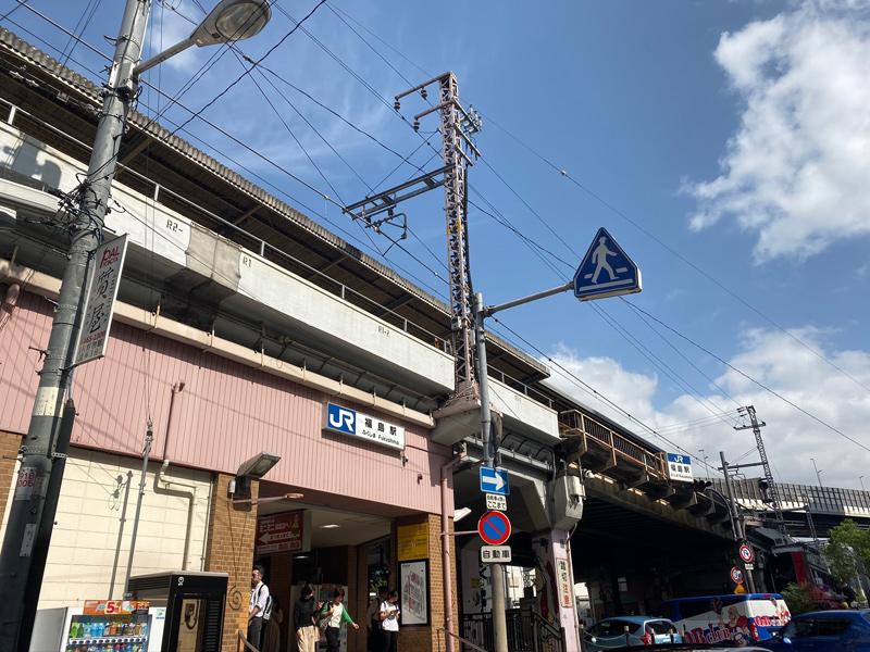 大阪環状線 福島駅を通過