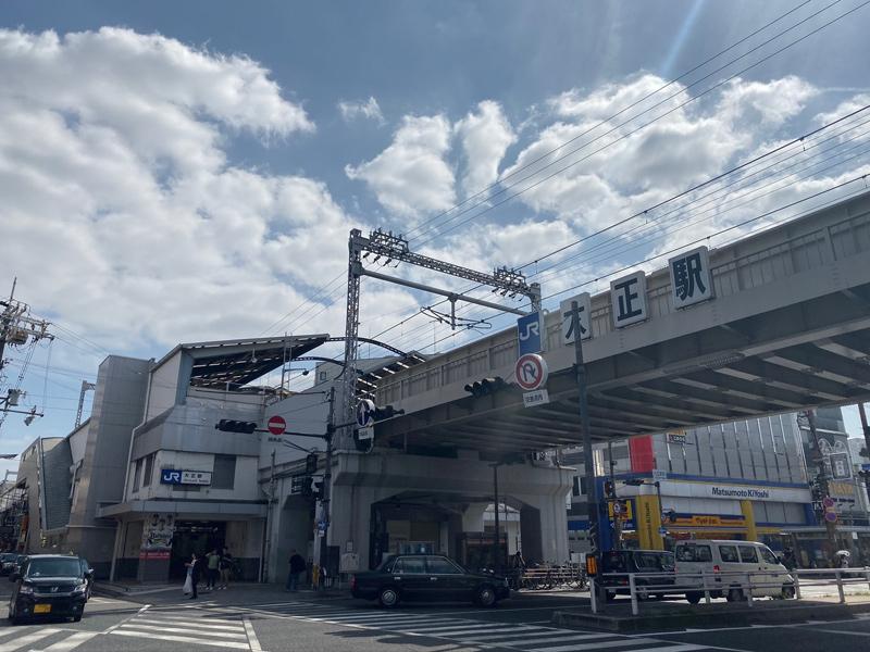 大阪環状線 大正駅を通過