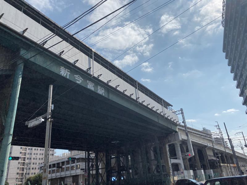 大阪環状線 新今宮駅を通過