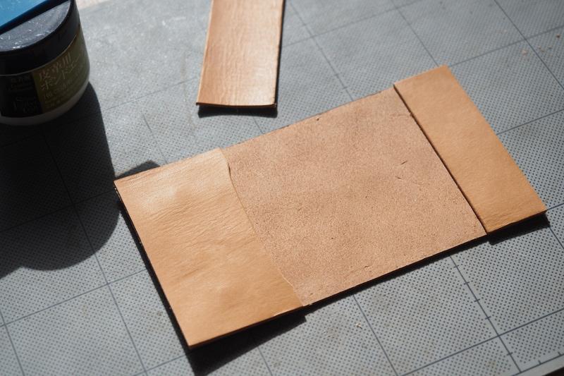 レザーキーケースの製作工程