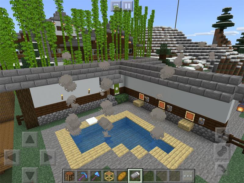 マインクラフトで絶景混浴露天風呂が楽しめる温泉を建築