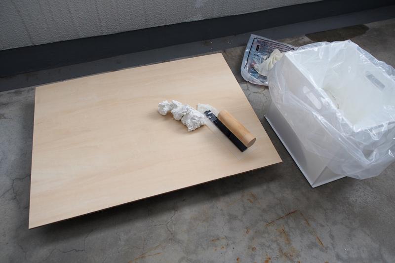 ブツ撮り用の漆喰背景ボードを製作