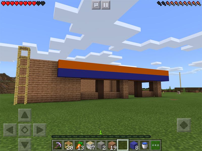 マインクラフトでコンビニを建築
