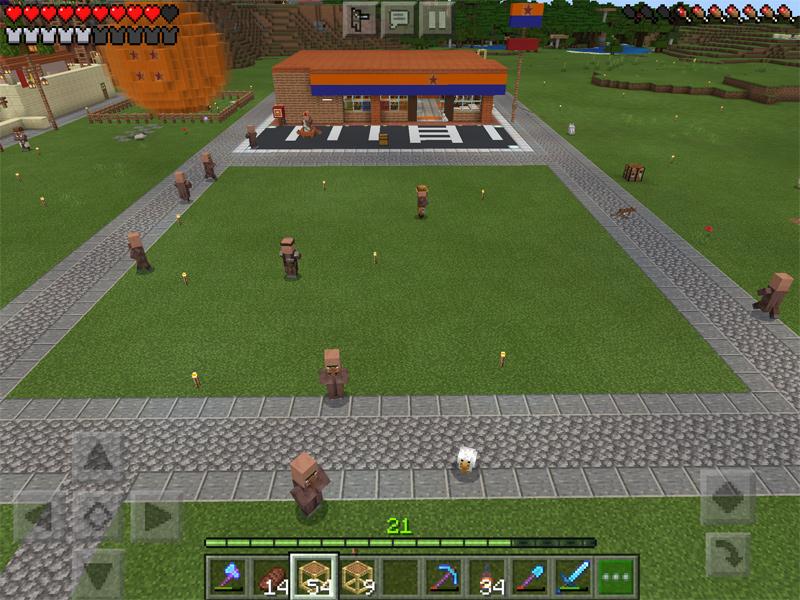 マインクラフトで小さな公園を建築