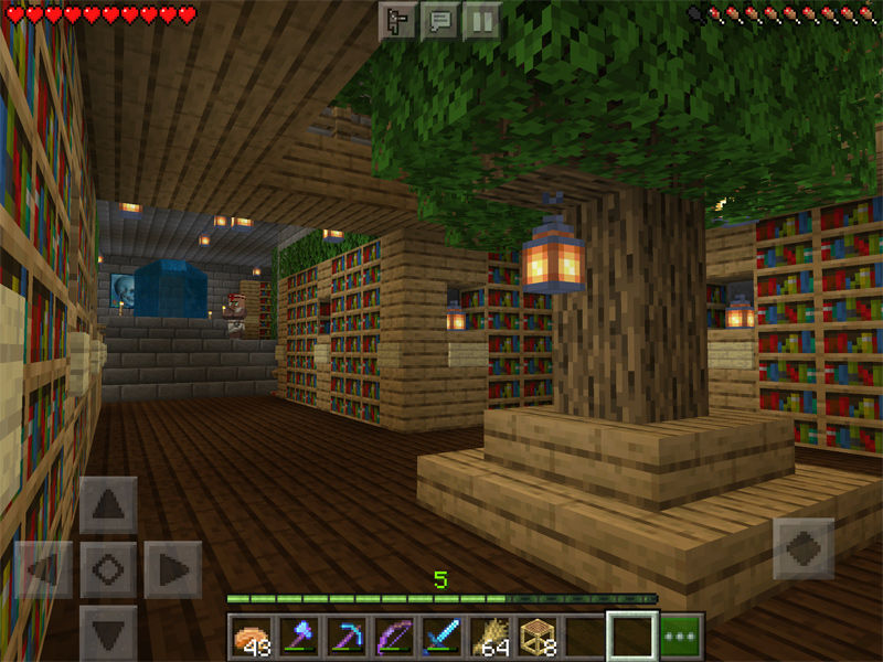 マインクラフトで要塞を図書館に改築