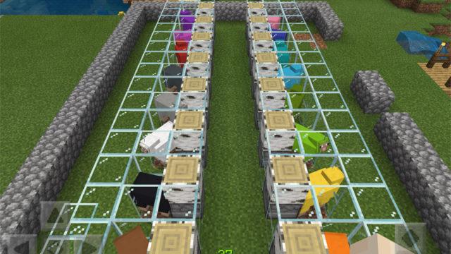 マインクラフトで羊牧場に全自動羊毛回収装置を導入