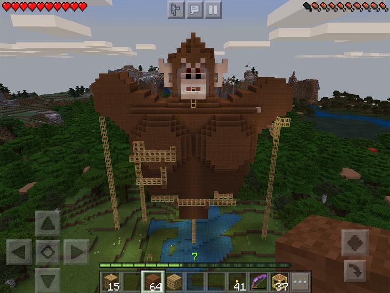 マインクラフトで大猿を建築する