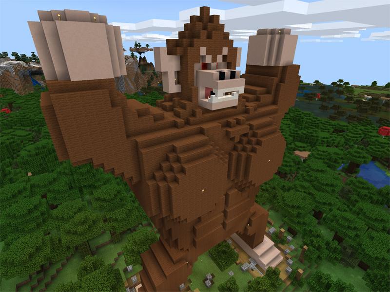 マインクラフトで大猿が完成