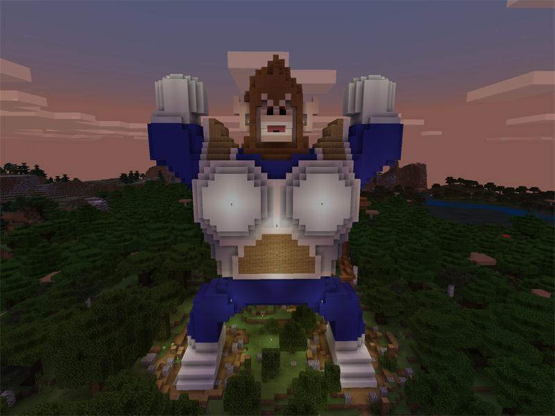 マインクラフトで大猿ベジータを建築する