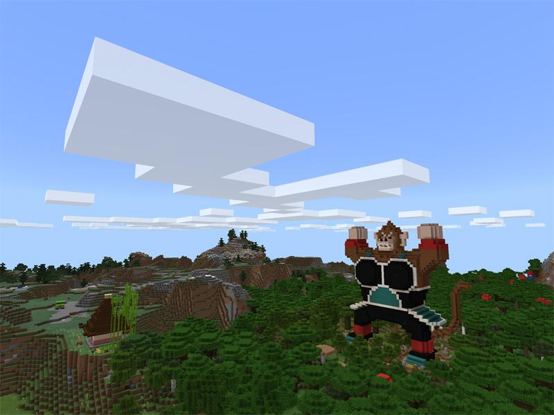 マインクラフトで大猿バーダックを建築する