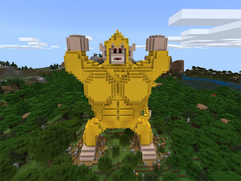 マインクラフトで黄金大猿悟空を建築する