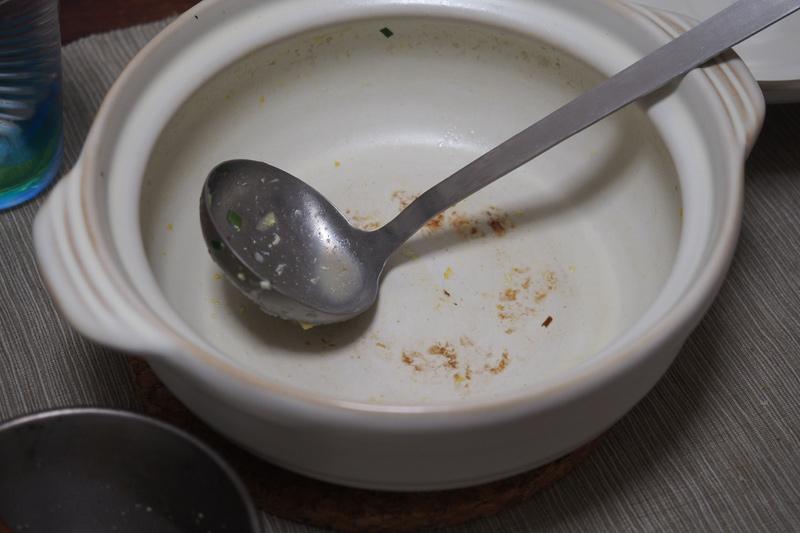 鳥の水炊きのシメの雑炊