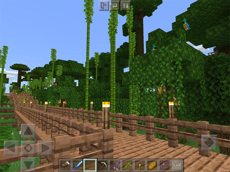 マインクラフトでジャングル自然公園を作る