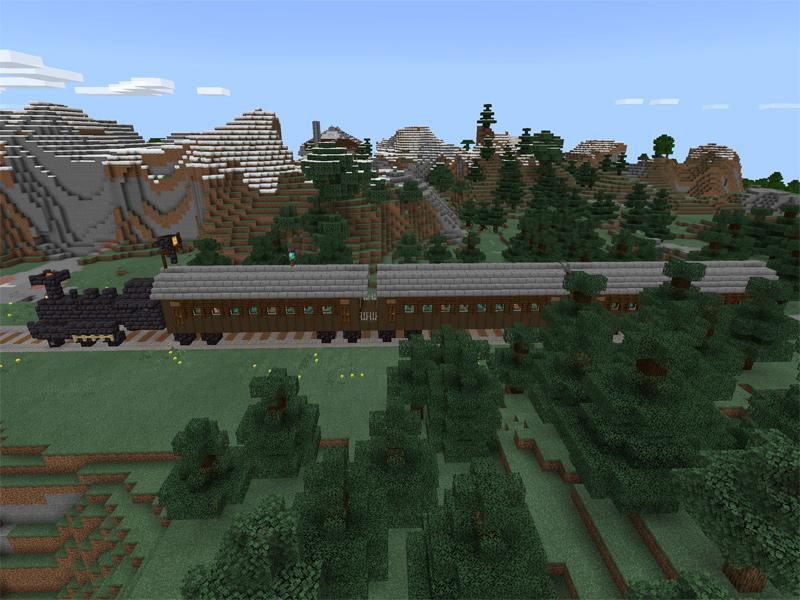マインクラフトで鬼滅の刃の無限列車を作る